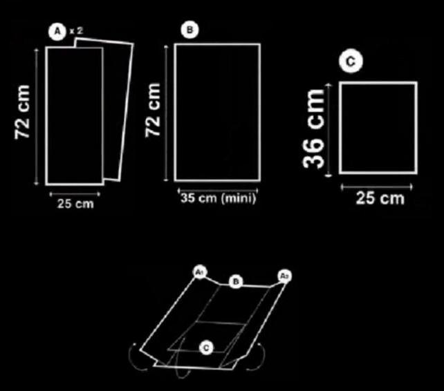 Cara Membuat Alat Pelipat Pakaian